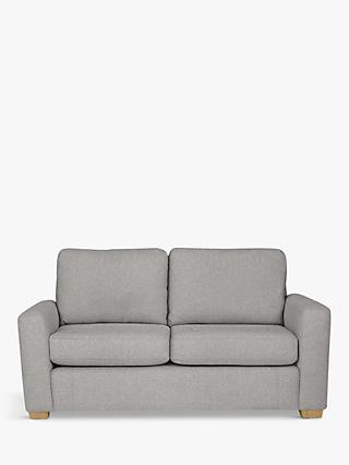 House by John Lewis Oliver Small 2 Seater Sofa, Light Leg, Aquaclean Matilda Steel