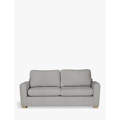 House by John Lewis Oliver Large 3 Seater Sofa, Light Leg, Aquaclean Matilda Steel
