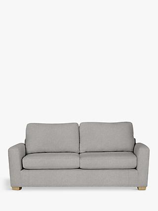 House by John Lewis Oliver Large 3 Seater Sofa, Light Leg, Aquaclean Matilda Steel
