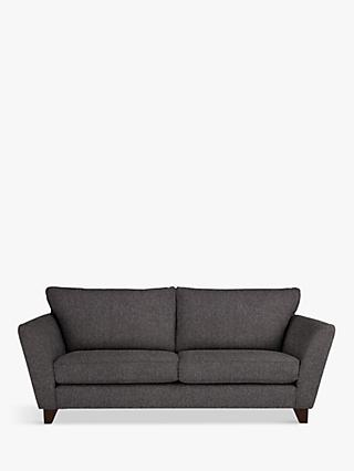 John Lewis & Partners Oslo Large 3 Seater Sofa, Dark Leg, Drayton Charcoal