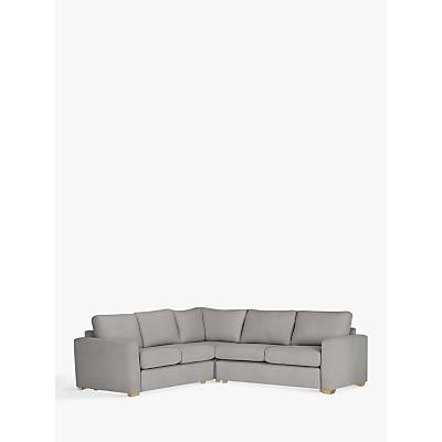 House by John Lewis Oliver Corner Pack Modular Sofa, Light Leg, Aquaclean Matilda Steel