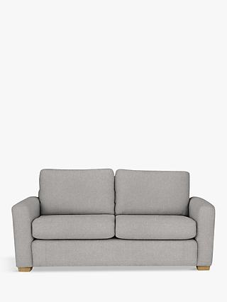 House by John Lewis Oliver Medium 2 Seater Sofa, Light Leg, Aquaclean Matilda Steel