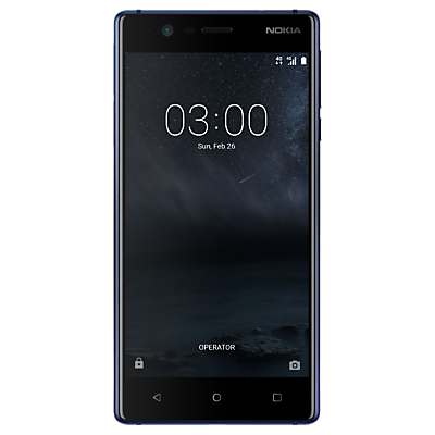 Nokia 3 Smartphone, Android, 5, 4G LTE, SIM Free, 16GB