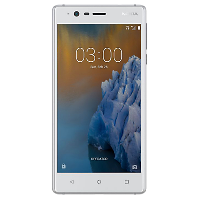 Image of Nokia 3 Smartphone, Android, 5, 4G LTE, SIM Free, 16GB