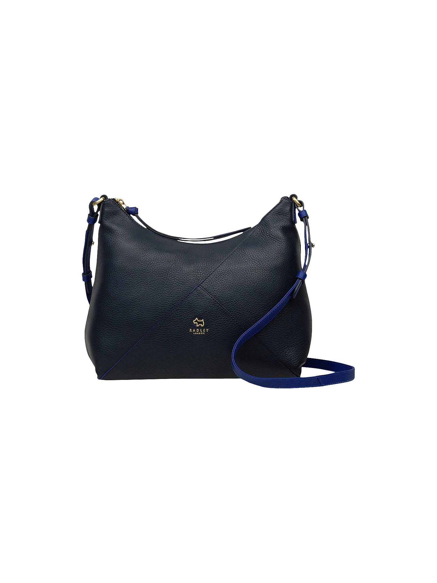 61f750a032c BuyRadley Oxleas Medium Leather Ziptop Cross Body Bag, Blue Online at  johnlewis.com ...