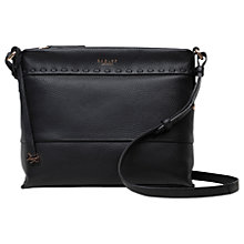 Buy Radley Hampstead Heath Leather Across Body Bag, Black Online at johnlewis.com