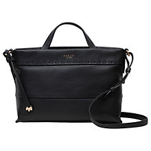 Buy Radley Hampstead Heath Leather Multiway Bag, Black Online at johnlewis.com