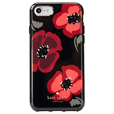 kate spade new york Jewelled Poppy Case for iPhone 7, Black/Multi