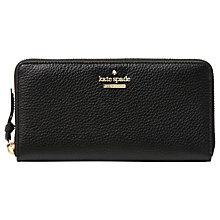 Buy kate spade new york Jackson Street Lacey Leather Zip Around Purse, Black Online at johnlewis.com
