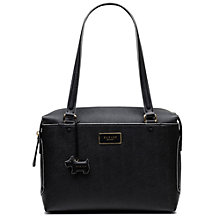 Buy Radley Kenley Common Large Leather Tote Bag, Black Online at johnlewis.com