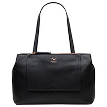 Buy Radley Farthing Downs Large Leather Tote Bag, Black Online at johnlewis.com