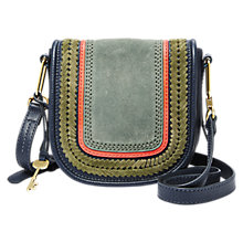 Buy Fossil Rumi Small Leather Cross Body Bag, Midnight Navy Online at johnlewis.com