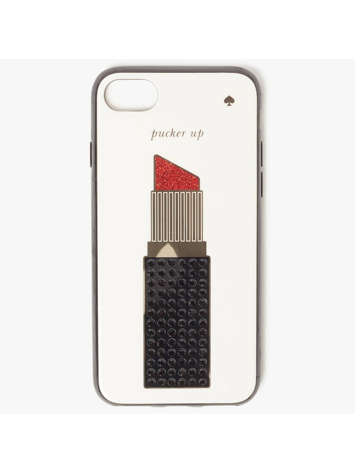 detailed look 2616b 2a172 kate spade new york Jewelled Lipstick iPhone 7 Case, Cream/Multi at ...