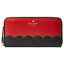 Buy kate spade new york Cameron Street Lacey Leather Zip Around Purse, Red Carpet Online at johnlewis.com