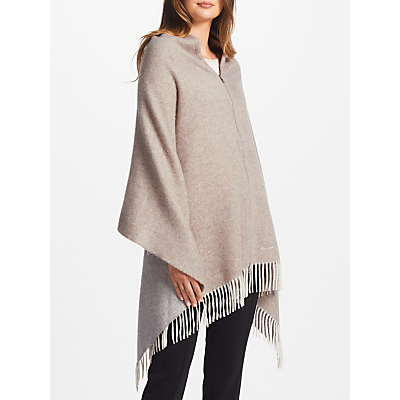 Marc Cain Embellished Wool Cape, Beige