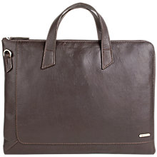 Buy Hidesign Eastwood 01 Briefcase, Brown Online at johnlewis.com