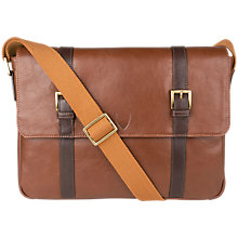 Buy Hidesign Gable Despatch Leather Bag, Tan/Brown Online at johnlewis.com