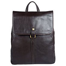 Buy Hidesign Craig 01 Leather Backpack, Brown Online at johnlewis.com