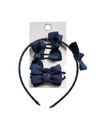 Buy John Lewis & Partners Girls' Hair Accessories, Pack of 5, Blue Online at johnlewis.com