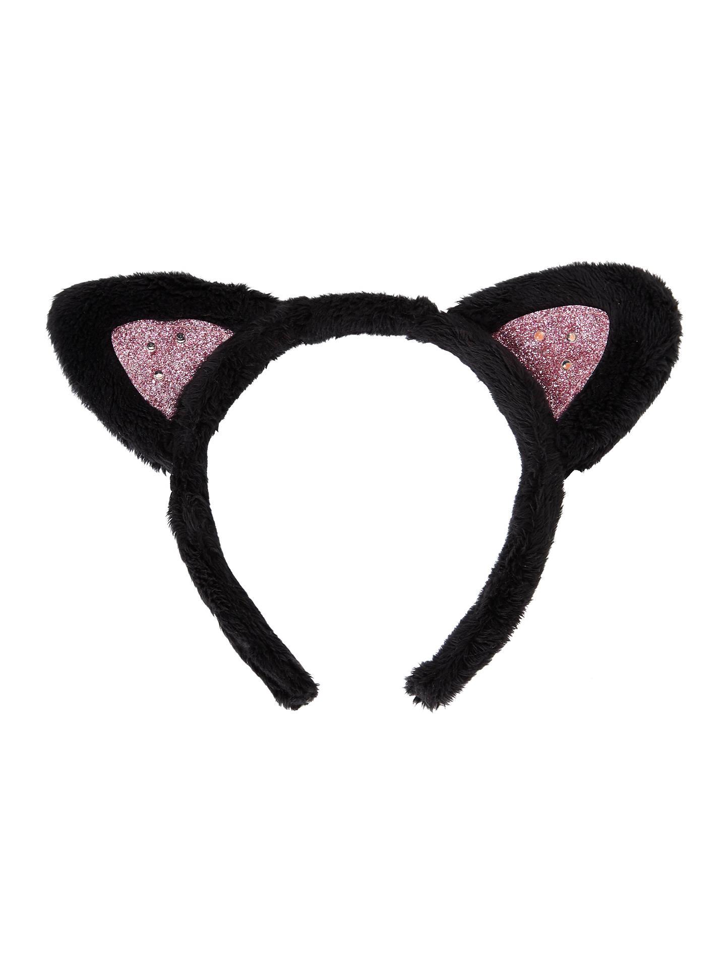 db1ab90b116 Buy John Lewis Children s Halloween Light Up Cat Ears Headband