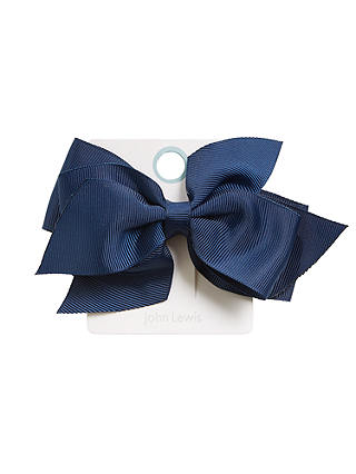 Buy John Lewis & Partners Girls' Large Bow, Blue Online at johnlewis.com