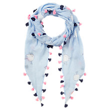 Buy Jigsaw Children's Whale Print Scarf, Blue Online at johnlewis.com