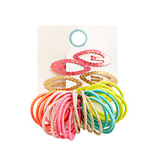 Buy John Lewis Children's Hair Ponies and Clips Set Online at johnlewis.com