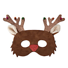 Buy John Lewis Children's Christmas Reindeer Mask, Brown Online at johnlewis.com