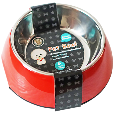 Image of Pet London Pet Bowl, Red