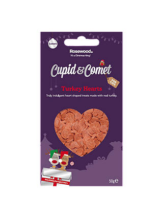 Buy Rosewood Cupid & Comet Luxury Turkey Hearts for Cats, 50g Online at johnlewis.com