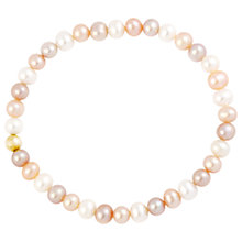 Buy A B Davis 9ct Gold Pearl Bracelet Online at johnlewis.com
