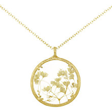 Buy Catherine Weitzman 18ct Gold Plated Large Gypsophila Round Pendant Necklace, Gold/White Online at johnlewis.com