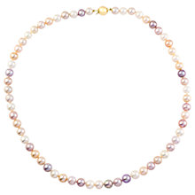 Buy A B Davis 9ct Gold Pearl Necklace, Multi Online at johnlewis.com