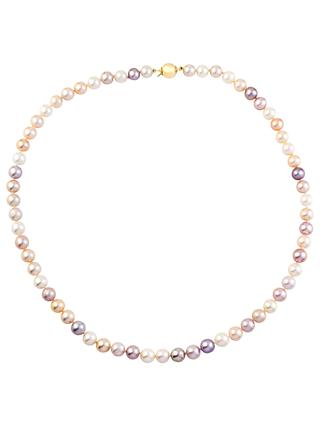 A B Davis 9ct Gold Pearl Necklace, Multi