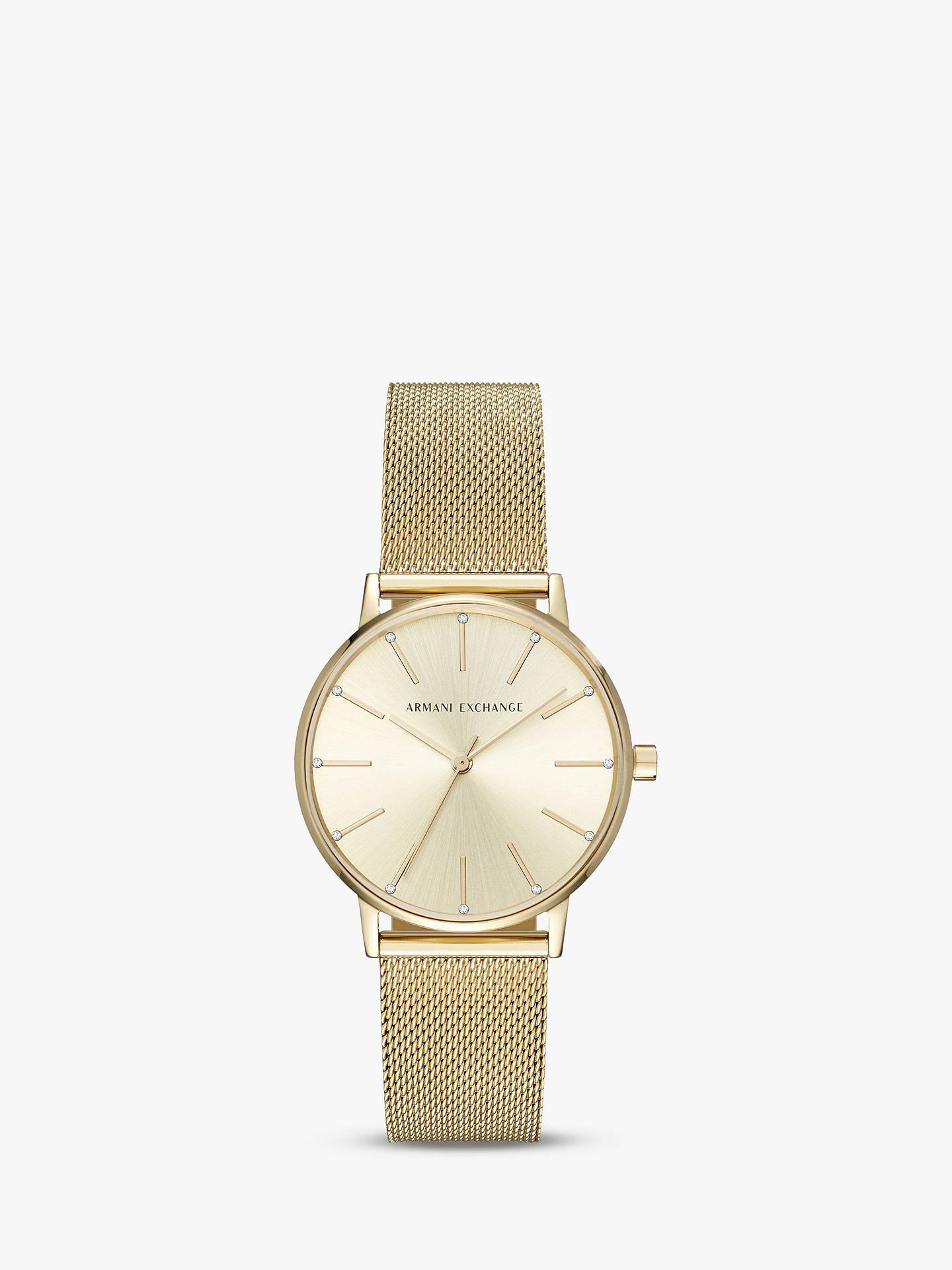 Armani Exchange Women s Mesh Bracelet Strap Watch at John Lewis ... 543281fc95