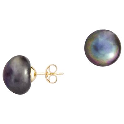 A B Davis 9ct Gold Freshwater Pearl Stud Earrings