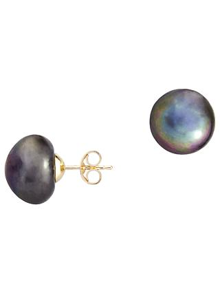 A B Davis 9ct Gold Freshwater Pearl Stud Earrings