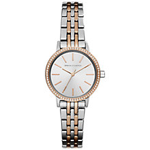 Buy Armani Exchange AX5542 Women's Two Tone Bracelet Strap Watch, Silver/Rose Gold Online at johnlewis.com