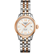 Buy Tissot T41218333 Women's Le Locle Automatic Date Two Tone Bracelet Strap Watch, Silver/Rose Gold Online at johnlewis.com