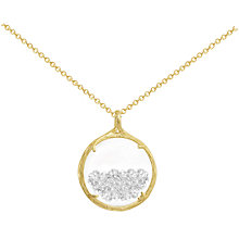Buy Catherine Weitzman 18ct Gold Plated Small Crystal Gem Shaker Round Pendant Necklace, Gold/Clear Online at johnlewis.com