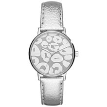 Buy Armani Exchange AX5539 Women's Patterned Leather Strap Watch, Silver/Grey Online at johnlewis.com