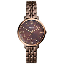 Buy Fossil ES4275 Women's Jacqueline Bracelet Strap Watch, Brown Online at johnlewis.com