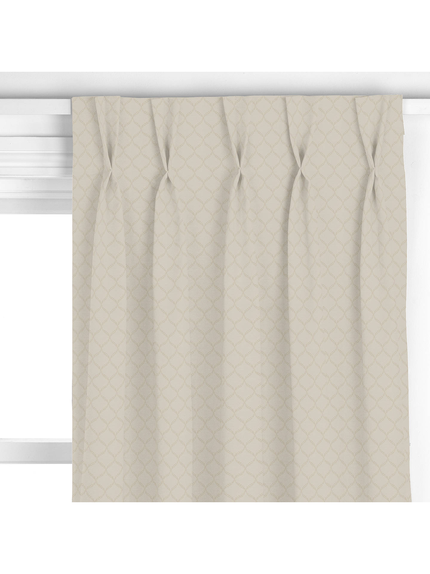 john lewis partners edwin trellis curtain natural at. Black Bedroom Furniture Sets. Home Design Ideas