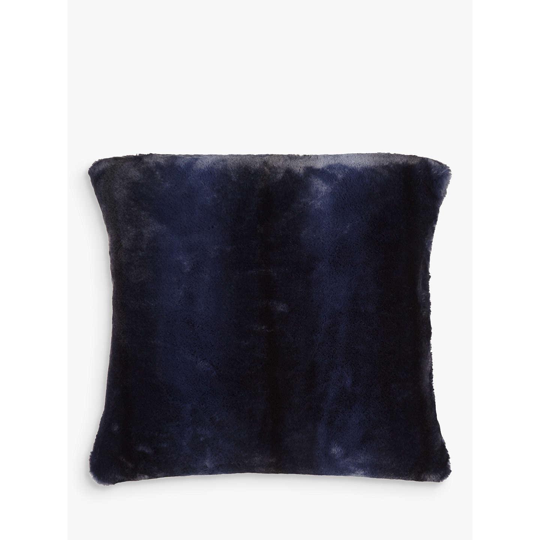 john lewis premium faux fur cushion navy stripe at john lewis. Black Bedroom Furniture Sets. Home Design Ideas