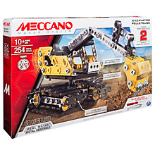 Buy Meccano Excavator 2 in 1 Model Set Online at johnlewis.com