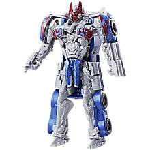 Buy Transformers: The Last Knight Armour Turbo Changer Optimus Prime Action Figure Online at johnlewis.com