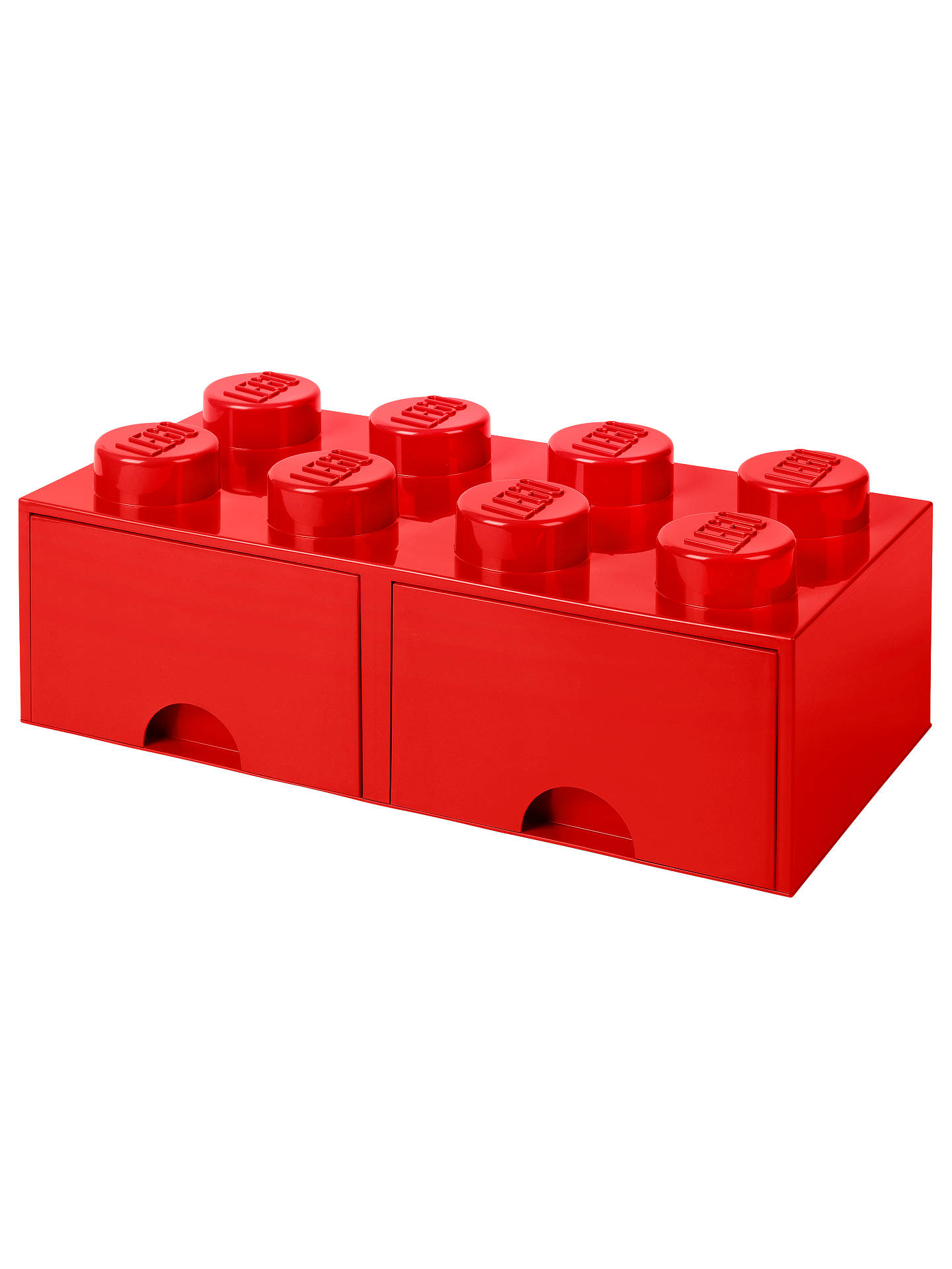 BuyLEGO 8 Stud Storage Drawer, Red Online at johnlewis.com