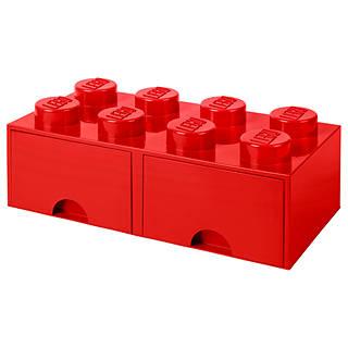 Superb LEGO 8 Stud Storage Drawer, Red