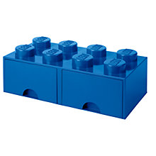 Buy LEGO 8 Stud Storage Drawer, Blue Online at johnlewis.com