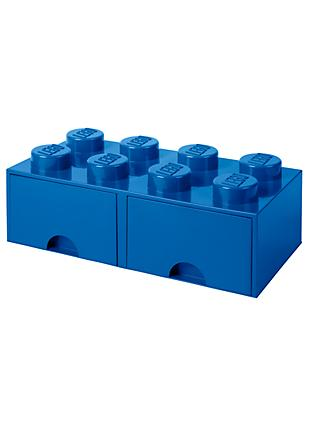 LEGO 8 Stud Storage Drawer, Blue